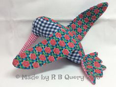 Hummingbird out of cotton  blue pink green  plaid & by RBQuery