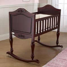 Wood Baby Cradle Rocking Crib Wooden Bassinet Newborn Nursery Furniture Infant - http://baby.goshoppins.com/furniture/wood-baby-cradle-rocking-crib-wooden-bassinet-newborn-nursery-furniture-infant/