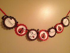Ladybug birthday banner by PrettyStuffbyMandy on Etsy, $16.00