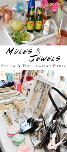 Looking for a fun girl's night in party idea? Throw a Mules and Jewels Party! If you've been wanting to host a Stella & Dot party, this is the perfect way to do it! Serve Moscow Mules as you hang out with your friends and shop for trendy accessories!