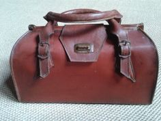 Sturdy cordovan brown red leather French by Eurovintageclassics