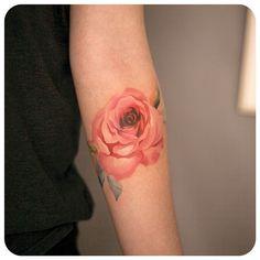 rose #타투이스트리버  #타투 #그라피투 #tattoo #graffittoo #수채화타투 #watercolortattoo