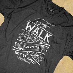 T-shirt design - Walk by Tomasz Biernat, via Behance