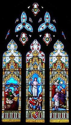 Ashby St. Ledgers Church: Stained Glass Window