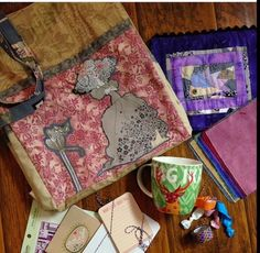 Kwilty Pleasures: GHASTLIES SWAP REVEAL - DAY 1 Monday  - Karamat Sews made the projects - other items added to swap package.