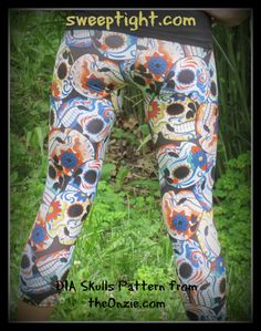 Hot Yoga Pants from The Onzie - Skull Leggings #sponsored