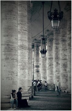 St.Peter's colonnade.  Rome
