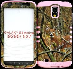 High Impact Hybrid Cover Case for Samsung Galaxy S4 ACTIVE I9295 Real Deer Camo Mossy Hunter Series Design Snap on Over Baby Pink Gel. (NOT FOR GALAXY S4), http://www.amazon.com/dp/B00GK72528/ref=cm_sw_r_pi_awdm_qFX8sb0RA7KJW