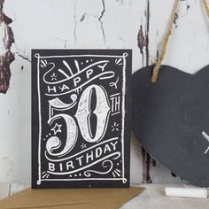 We love hand-drawn chalkboard lettering, so we created this 'good to chalk' card range to celebrate those special birthdays in style.Available as 18th, 21st, 30th, 40th, 50th, 60th 70th 80th 90th 100thOriginally hand-drawn in chalk, each milestone birthday card is reproduced on high quality card. Whether you're celebrating an 18th, 21st, 30th, 40th, 50th, 60th 70th 80th 90th 100th you can have a stylish birthday card that feels special. Great for men and women, these cards are fun...