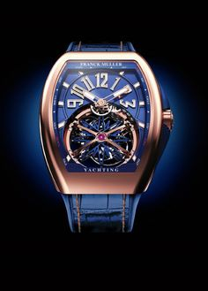 #BlueandGold Frank Mueller Men's Leather Watch