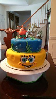 Spongebob And Patrick Vanilla Cake