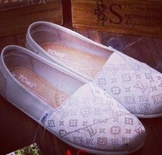 Louie Vuitton TOMS I must have these now!!!