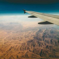 What you can expect to see when landing in the Sinai Peninsula which is the only divider between the Red and Mediterranean sea. It also holds the world-famous Suez Canal on one side the artificial canal that gave world trade a major boost by eliminating the need to go around Africa. photo by Pete Rojwongsuriya (via bucketlistly)