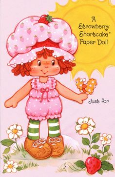 Easter - Strawberry Shortcake Greeting Card Paper Dolls (Valentine and Christmas also here.)