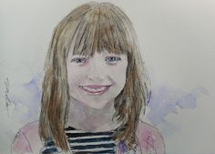 Acoustic Drawings The Shinji Ogata Gallery: A Girl with a Lovely Smile 可愛い笑顔の少女