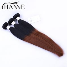 Aliexpress.com : Buy Ombre Hair 7A Peruvian Straight Hair Ombre Human Hair Extensions 3pcs dark root dark brown end remy human Hair Weave Bundles from Reliable hair weaves extensions suppliers on HANNE Colorful hair