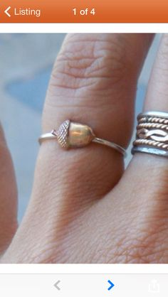 Acorn ring! I may just have to have this!