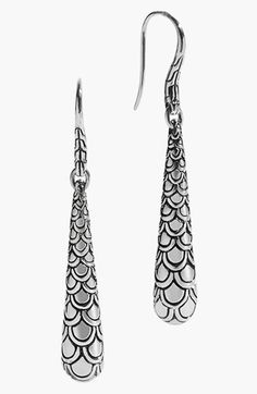 John+Hardy+'Naga'+Scale+Drop+Earrings+available+at+#Nordstrom