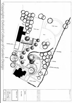 Contemporary Garden Plan with Tennis Court, Kitchen garden, swimming pool and lawn