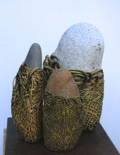 On view Feb. 6 - March 2 2014 at Patricia Rovzar Gallery, 1225 Ave. Stone Crafts, Rock Crafts, Arts And Crafts, Zen Rock, Rock Art, Stone World, Rock And Pebbles, Stone Wrapping, Art Plastique