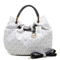 Michael Kors Marina Logo Large Vanilla Drawstring Bags