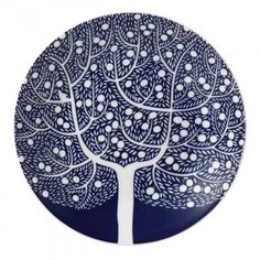 Fable Blue Tree Accent Plate 16cm /6 pounds