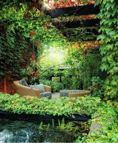 There is privacy and shade, I'm thinking a good book and a nap.(bh)