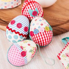 Patchwork & Button Handing Egg Decorations, Interiors, Easy To Steal Ideas, Easter 2013