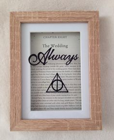 Harry Potter framed Always quote with deathly by MadewithMagic1