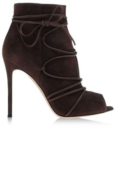 Simply lace-up and go.  Gianvito Rossi boots, $1080, shopBAZAAR.com.