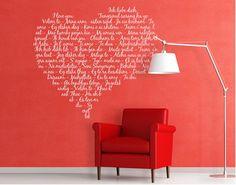 Fancy UL wohnen Wandspr ch Spr ch Spr che Wanddeko Wandgestaltung Wandzitat Wand chillen Pinterest Zitate and Wands