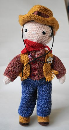 Ravelry: Cowboy Outfit - My Little Crochet Doll pattern by Betty Virago