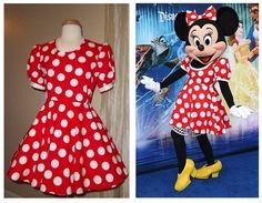 Custom Adult Size s 2XL 1950s Minnie Mouse Large Polkadot Theater Costume Dress | eBay
