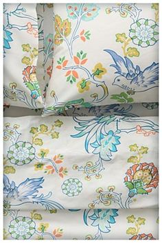 Sunbird Sheet Set - if I hadn't just created an all white bed - maybe when the guest room gets and upgrade...