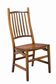 Maryville Cherry Wood Dining Chair from DutchCrafters Amish Furniture.  Made from solid wood, this transitions-style dining chair mixes modern with old-world to form a unique dining chair. Made to order from cherry wood in your choice of finish. #diningchairs #comfortable #wooden #contemporary