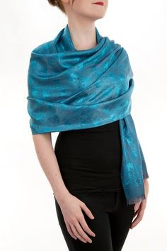 Opulent Luxury Scarf Shawl is woven from the finest 100% Silk gives you the right amount of coverage during the colder seasons.