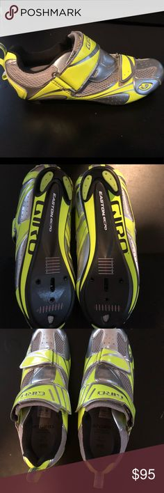 Spin / Cycling Shoes (Road) Never worn! Great spin shoes, Giro brand. Price is INCLUDING LOOK delta cleats (red shimano).   Size 39.5 - run small (I wear a street 7.5, too small for me)   Will negotiate if you want them without cleats. Giro Shoes Athletic Shoes