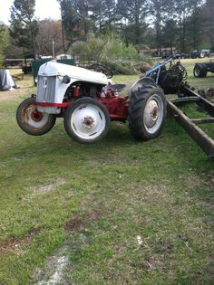 1951 Ford 8 N Farm Tractor Lifting a dump truck motor and transmission   Well attempting to this go round