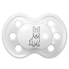 Scottish Terrier Dog Cartoon Pacifiers