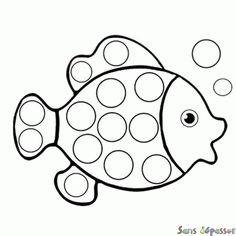 Coloriage Poisson qui fait des bulles