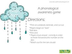 Drop-Plop! A phonological awareness game. Rhyme and syllables