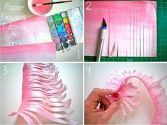 Por fin os puedo ofrecer el tutorial para hacer los crisantemos de papel. Estáis preparados? Pues empezamos!