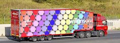delivery truck branding | brand advertising on side of Wilkinson discount chain store delivery ...