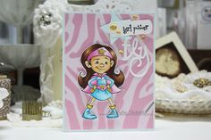 Made by Cindy Hoesel, Whimsy Stamps, Krista Heij-Barber, Super Girl, Button Die