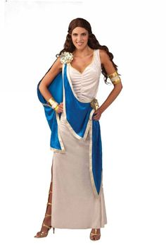 Adult Costumes - This Greek Goddess Costume includes the dress with the attached drape and the wrist & arm cuffs. Greek Toga, Pretty Woman Costume, Greek Goddess Costume, Costume Shop, Toga Costume, Sexy Halloween Costumes, Beautiful Costumes, Costumes For Women, Cute Fashion