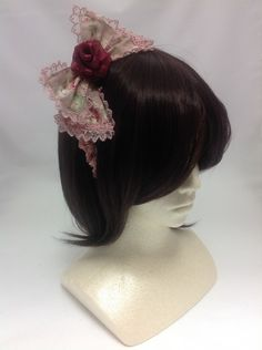 Rose Last Note Head Bow in Pink from Angelic Pretty - Lolita Desu