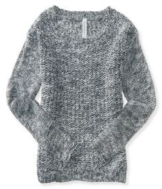 Long Sleeve Textured Crew-Neck Sweater