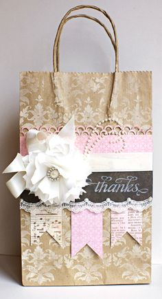 Altered Gift Bag---this is so pretty