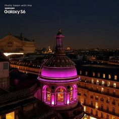 Disponibil la precomandă la @quickmobilero:http://bit.ly/1ExEarb #Regrann from @samsungmobile - Photo of #Paris taken with the #GalaxyS6. #night