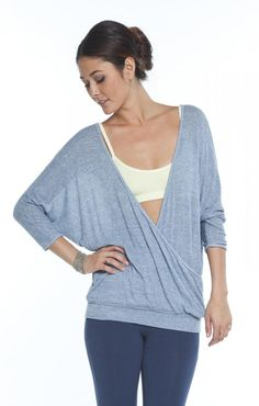 Omgirl Devotion Pullover Yoga Top in Lakeshore
